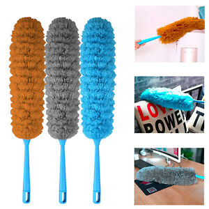 Long Soft Microfiber Duster Bendable Flexible Cleaning Brush Dust Cleaner Handle