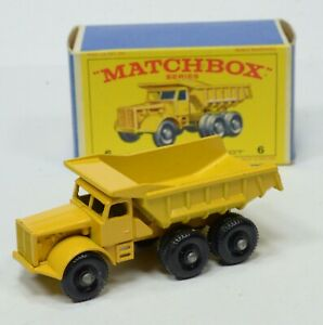 VINTAGE MATCHBOX No6 Euclid Quarry Truck w Original Box BIN