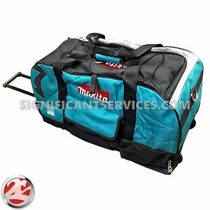Large Makita Heavy Duty Canvas Bag/Case 831269-3 With Wheels For 18 Volt 18V