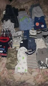 Miscellaneous Lot Of Baby Boy Clothes Size 3-6 Months 25+  good condition
