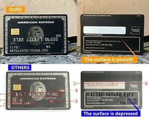 Custom Metal American Express Centurion Black Card Not Real AMEX Black Card