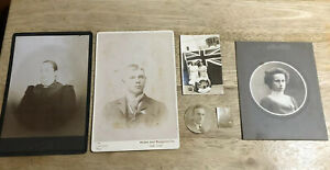 Lot of 6 Assorted Antique Photos