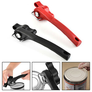 Tin Can Opener Professional Manual Safe Cut Lid Smooth Edge Side Stainless Steel