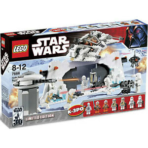 LEGO Star Wars HOTH REBEL BASE 7666 K-3PO Luke Troopers Sealed NIB Retired