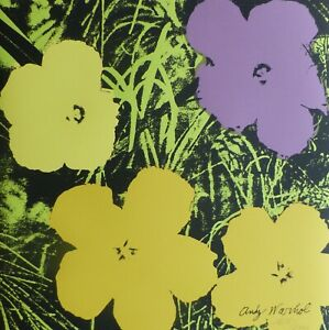 ANDY WARHOL POPPY FLOWERS 1986 HAND NUMBERED 16982400 SIGNED LITHOGRAPH  $225.00