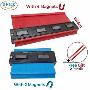 2 Pack Contour Gauge Duplication Profile Tool  Magnets 5 and 10 Widen Saker