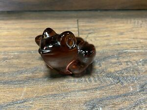 Vintage Mid Century FROG  PAPERWEIGHT ~ Murano Art Glass Toad Sculpture