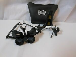 Beecher Mirage 5.5x25 Wide Angle Binocular Glasses LOW VISION RimlessView UNUSED