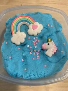 Unicorn Cloud Slime Drizzly with Unicorn charms 9oz Made in the USA