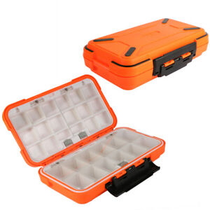 Double Layer Fishing Tackle Box Hard Plastic Bait Lure Box Fly Fishing Storage