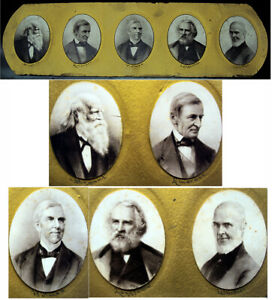 Antique Photos Of Poets Bryant Emerson Holmes Longfellow amp; Whittier
