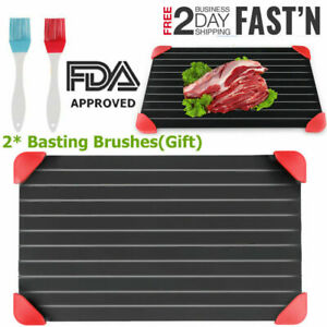 Fast Defrosting Tray Thaw Frozen Food Meat Fruit Quick Plate Board Defrost Tool $24.93