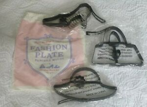 Williams Sonoma Fashion Plate Pancake Molds ~ Shoe Hat Purse Set of 3 ~ NEW