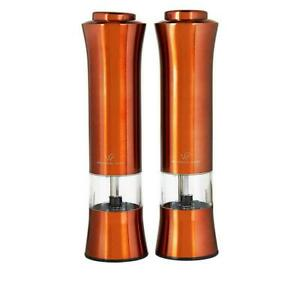 Wolfgang Puck 2-pack Adjustable Stainless Steel Push-button Spice Mills Copper