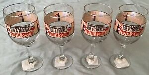 New Double Double Toil amp; Trouble Truth Serum Wine Glasses 10oz Set of 4