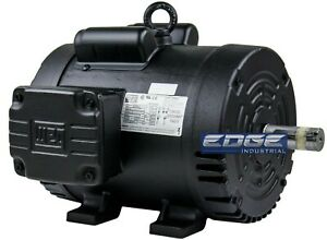 3 HP COMPRESSOR DUTY ELECTRIC MOTOR 184T FRAME 1750 RPM SINGLE PHASE WEG 3HP