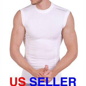 ARMEDES Mens Sleeveless T Shirt Cool Dry Compression Baselayer AR 121 $10.50