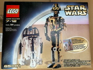 LEGO Star Wars Droid Collectors Set 65081 R2-D2 C-3PO New Sealed