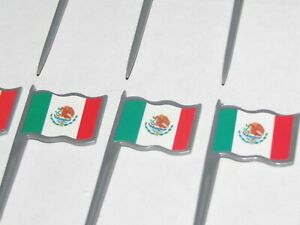 Mexican Flag Food Picks #014101, 2 packages, 12/pk, 3.5