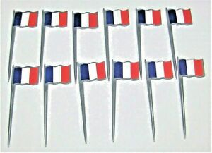 French Flag Food Picks #014126, 2 packages, 12/pk, 3.5
