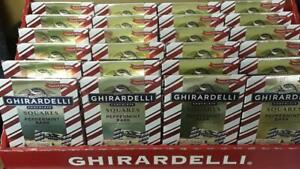 Ghirardelli Chocolate 24 packs Limited Edt. Peppermint Bark SQUARES (2 per pack)