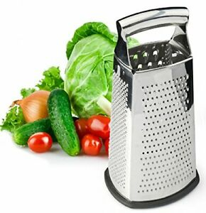 Box Grater 4-Sided Stainless Steel Large 10-inch Grater for Parmesan Large
