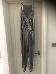 Sleeveless  Silver Jumpsuit Size Small