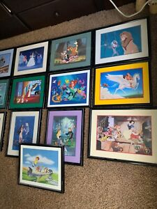 Disney Exclusive Lithograph Lot Of 35 Pictures $500.00