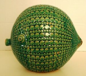 Large Modern 80's or 90's Ceramic Blow Fish Sculpture with a Mid Century Vibe