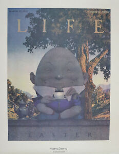 Vintage Humpty Dumpty By Maxfield Parrish Portal Publications Lithograph