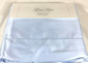 True Blue QUEEN or KING Sheet Set 600TC EXTRA LONG STAPLE Cotton Sferra Allegro