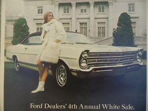 VINTAGE 1967 FOR GALAXIE 500 WHITE SALE AD NOT A REPRODUCTION