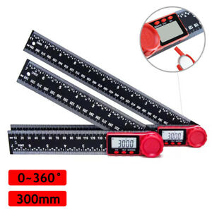 12quot; Electronic LCD Digital Angle Finder Protractor Gauge Ruler With Batteries US $14.99