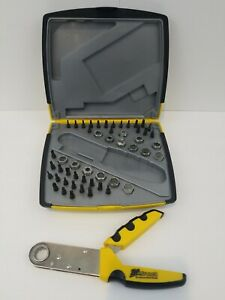 Zip Wrench The Squeeze Action Wrench Complete Set with Case Very Nice