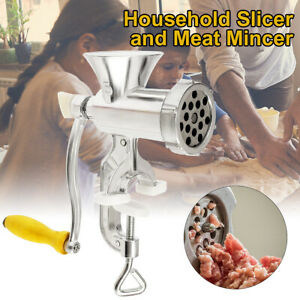 Handheld Meat Grinder Steel Manual Mincer Heavy Duty Kitchen Beef Sausage  USA