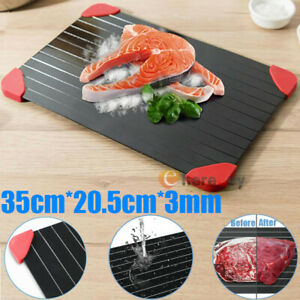 Quick Defrosting Tray Thaw Frozen Meat Food Fruit Plate Board Defrost w 4 Guard $24.93