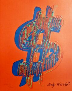 ANDY WARHOL $ DOLLAR SIGN RED SIGNED & HAND NUMBERED 27043000 LITHOGRAPH $198.00