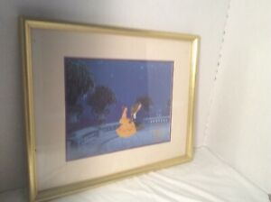 Walt Disney Beauty And The Beast Exclusive Commemorative Lithograph 1992 Framed