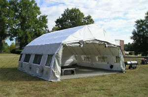 20x20 EMERGENCY MEDICAL SHELTER AIR BOSS S 9 IN GOOD CONDITION