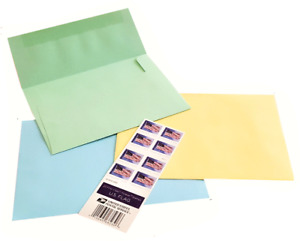 Elegant Pastel Envelopes with Classic US Forever Stamps!