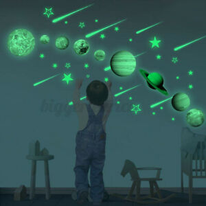 Solar System Planet Night Light Luminous DIY Wall Sticker Shine In The