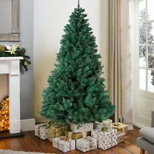 7.5ft PVC Artificial Spruce Christmas Tree W/ Stand Holiday Decoration Green