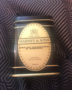 Harney & Sons Decaf Peaches and Ginger 4 ounce Tin
