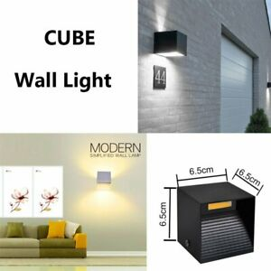 12W Cube LED Wall Light Lighting Lamp Night Light Sconce Fixture Indoor Outdoor
