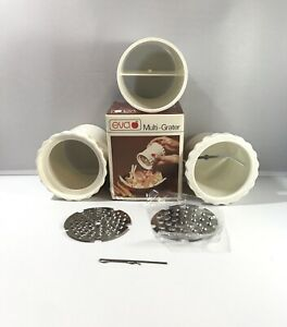 Vintage Eva Multi Grater Stainless Steel Blades Cheese Nuts