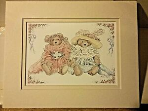 Portal Publications Two Bears in Clothes Alice Shaw Lithograph CSTD 003 36 $13.00