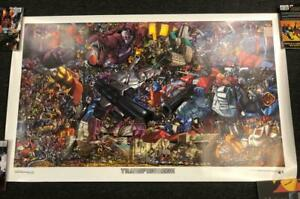 TRANSFORMERS MEGA LITHO DREAMWAVE COMICS LITHOGRAPH PRINT 2002 3'X5' HUGE