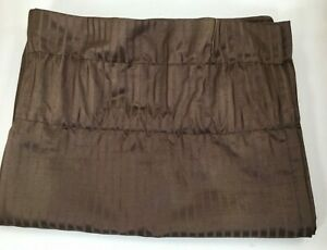 Curtain Valence 18-Inch x 51-Inch Valance - Brown