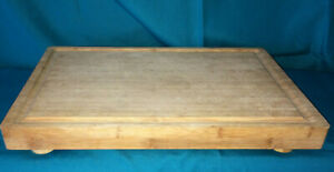 Large 11.5x17.5  Bamboo Cutting Board Butcher Block Thick Earth Chef
