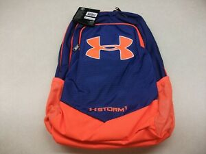 NWT Under Armour Boys' Storm Scrimmage Backpack, ROYAL BLUE AND BLAZE ORANGE $59.99
